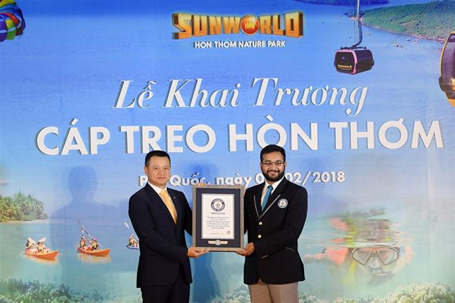 Phu Quoc khai truong cap treo Hon Thom dai nhat the gioi hinh anh 1